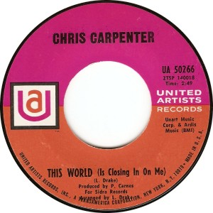 Chris Carpenter - This World (Is Closing In On Me)