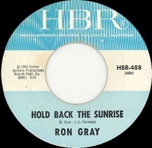 Ron Gray - Hold Back The Sunrise label.bmp
