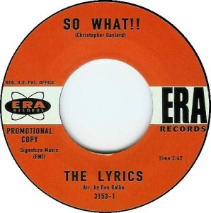 The Lyrics - So What